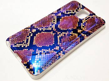 Чехол силиконовый с рисунком питон для Samsung Galaxy Note 3 n9000