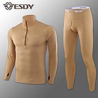🔥 Комплект термобелья ESDY. Level-2 (койот) (флисовое термо-белье)