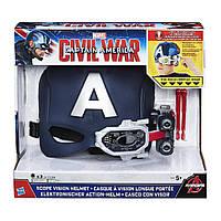 """Шлем Капитана Америка - Captain America, """"Civil War"""", Scope Vision Helmet, Hasbro"""