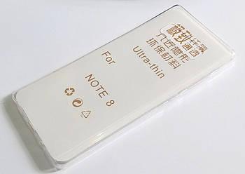 Чехол для Samsung Galaxy Note 8 N950 силиконовый ультратонкий прозрачный