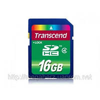 Карта памяти Transcend SDHC 16GB class 4 флешка
