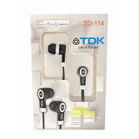 Вакуумные наушники TDK TD-114 Black, фото 1