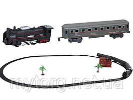 Железная дорога и поезд Train World в ретро стиле