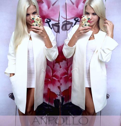 Белое кашемировое пальто на подкладке