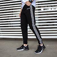 """Топовые мужские спортивные штаны Adidas """"Три полосы"""", спортивки адидас три полоски"""