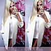 Белое кашемировое пальто на подкладке, фото 2