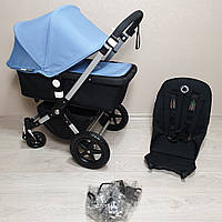 Детская коляска Bugaboo Cameleon 3 Black&Ice Blue Бугабу Камелеон