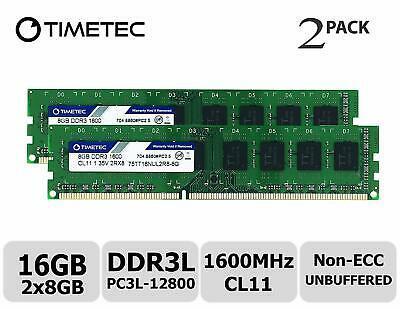 Оперативная память Timetec 16GB (2x8) DDR3L-1600 (75TT16NUL2R8-8G)
