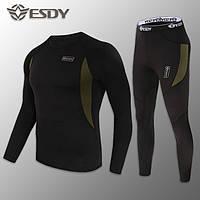 🔥 Комплект термобелья ESDY. Level-1 (черный) (флисовое термо-белье)