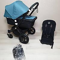 Детская коляска Bugaboo Cameleon 3 Black&Petrol Blue Бугабу Камелеон