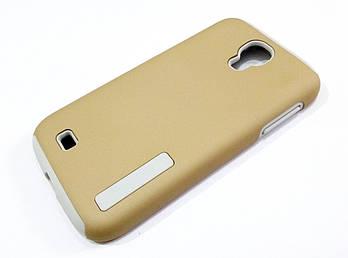 Чехол противоударный Dual Pro для Samsung Galaxy S4 i9500 поликарбонат золотой