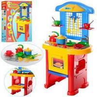Детская игрушечная кухня от ТМ ТехноК с набором посуды, размер 58 х 48 х 15,5 см арт. 2124