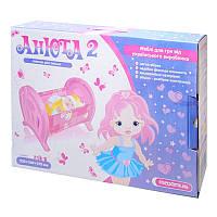 Анюта 2 ліжко для ляльок (арт. 5019) 55x34x36см-/10 (в коробці) Максимус