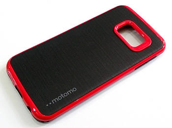 Чехол противоударный Motomo для Samsung Galaxy S6 edge G925 черный с красным