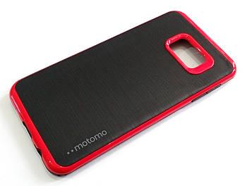 Чехол противоударный Motomo для Samsung Galaxy S6 Edge Plus g928 черный с красным
