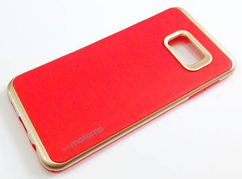 Чехол противоударный Motomo для Samsung Galaxy S6 Edge Plus g928 красный с золотым