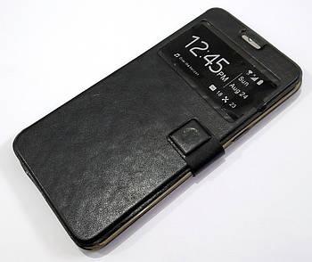 Чехол книжка с окошком momax для Samsung Galaxy S6 Edge Plus G928 черный