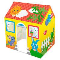 Детская игровая каркасная палатка-домик от ТМ BESTWAY для дома и улицы, размер палатки 114-102-76 см арт. 52007
