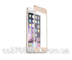 Защитное стекло / Захисне скло iPhone 6, IPhone 6S золотий Carbon 3D