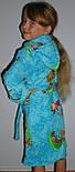 """Халат махровый короткий с капюшоном на замке детский """"Винни""""голубой, фото 2"""