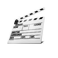 Кинохлопушка MLux WW-002 PREMIUM 32.5 x 26 x 1 Белая c магнитом на английском языке, КОД: 1312347
