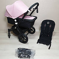 Детская коляска Bugaboo Cameleon 3 Black&Soft Pink Бугабу Камелеон