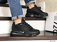 Мужские зимние кроссовки на термопрокладке в стиле Nike Air Max 720, термоплащевка, черные 44 (28,2 см)