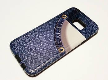 Чехол противоударный для Samsung Galaxy S7 Edge G935 накладка Remax Cover Jeans Shock