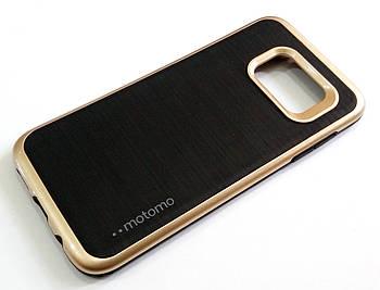 Чехол противоударный Motomo для Samsung Galaxy S7 Edge g935 черный с золотым