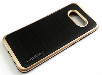 Чехол противоударный Motomo для Samsung Galaxy S8 g950 черный с золотым