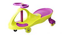 *Детская машинка Бибикар с двухцветным корпусом, Smart Сar New, размер машинки 80х30х42 см, зеленого цвета