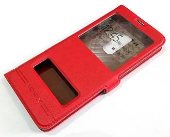 Чехол книжка с окошками momax для Samsung Galaxy S9 Plus G965 красный