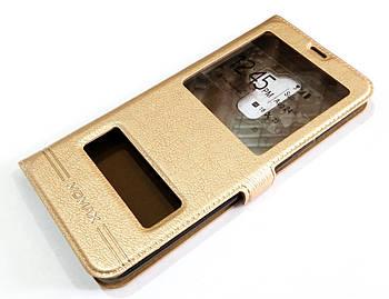 Чехол книжка с окошками momax для Samsung Galaxy S9 Plus G965 золотой