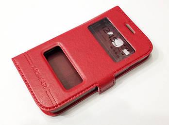 Чехол книжка с окошками momax для Samsung Galaxy Ace 3 s7272 / s7270 / s7275 красный