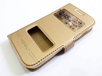 Чехол книжка с окошками momax для Samsung Galaxy Ace 3 s7272 / s7270 / s7275 золотой