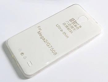 Чехол для Samsung Galaxy Mega 2 G750F / G7508 силиконовый ультратонкий прозрачный