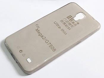 Чехол для Samsung Galaxy Mega 2 G750F / G7508 силиконовый ультратонкий прозрачный серый