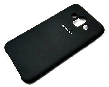 Чехол Silicone Case Cover для Samsung Galaxy J7 Duo J720 черный
