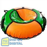 """Тюбинг ТюбЛетка """"""""Веселье-120"""""""" D=120 см, ткань ПВХ 630/900 г/м.кв цвет Оранжевый Зеленый"""