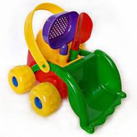 Детская машинкаБэбик + лопатка, ситечко (22*13,5*18см) МГ 162 MaxGroup