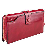 Кошелек женский кожаный JCCS W-JS01367 красный