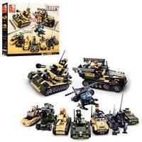 Конструктор SLUBAN M38-B0588 (8шт) армия, 8в1, военная техника,фигурки,928дет,в кор-ке,47,5-38-8см