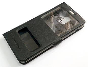 Чехол книжка с окошками momax для Samsung Galaxy A6 A600 2018 черный