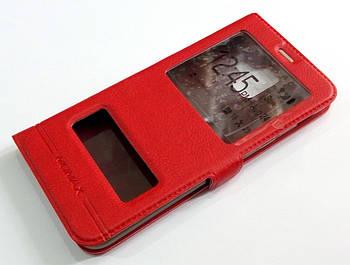 Чехол книжка с окошками momax для Samsung Galaxy A6 A600 2018 красный