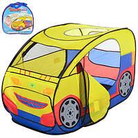 """Детская игровая палатка """"Машина"""" (Вход - накидка на липучках) для дома и улицы, размер 120-60 см арт. 2497"""
