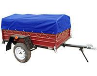 ✅Тент на легковой прицеп 250 х 150 см РЮКЗАК (синий)