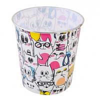 Корзина д / бумаг YES 706920 пластик. круглая 21 мая * 16 5 см Lot of Kittens (1)