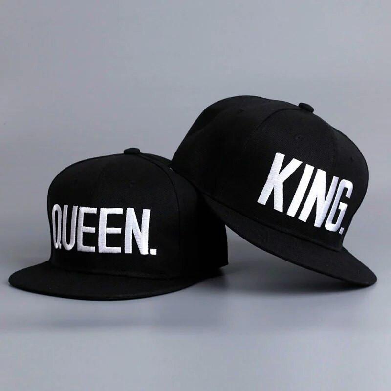 Комплект кепка снепбек King & Queen (Король і Королева) з прямим козирком для двох