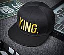 Комплект кепка снепбек King & Queen (Король і Королева) з прямим козирком для двох, фото 6