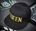 Комплект кепка снепбек King & Queen (Король і Королева) з прямим козирком для двох, фото 7